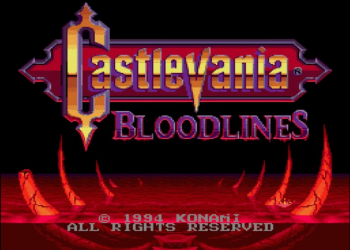 Castlevania: Bloodlines Enhanced Colors Title Screen