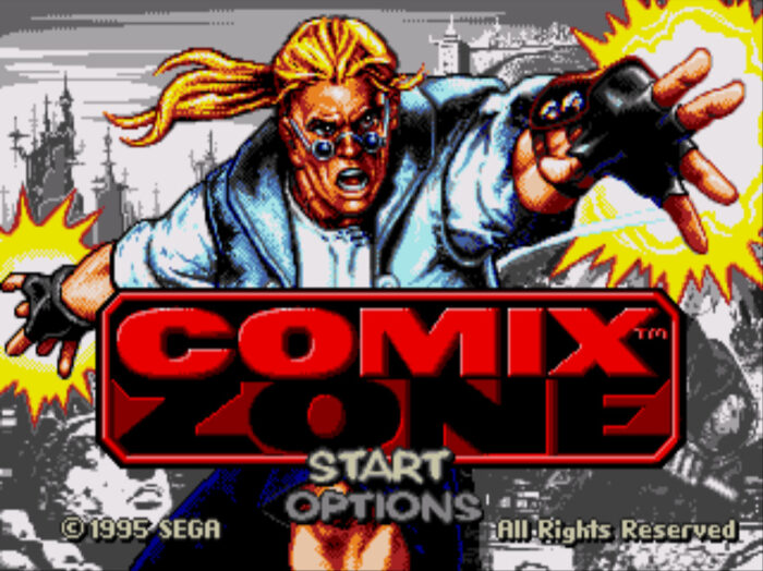 Comix Zone Calcium Kid Edition Title Screen
