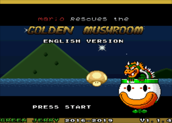 Mario Rescues The Golden Mushroom Title Screen
