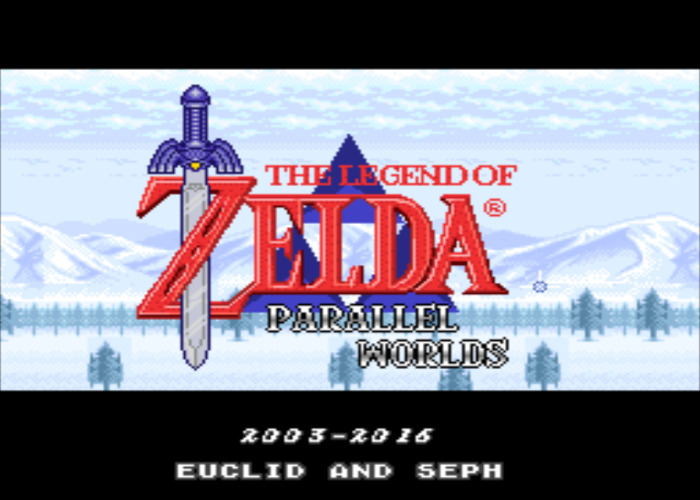 Zelda Parallel Worlds Title Screen