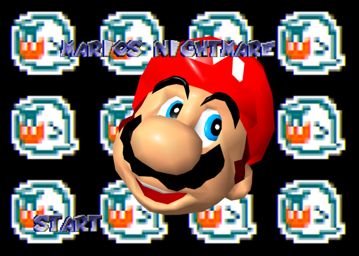 Mario's Nightmare 64 Title Screen