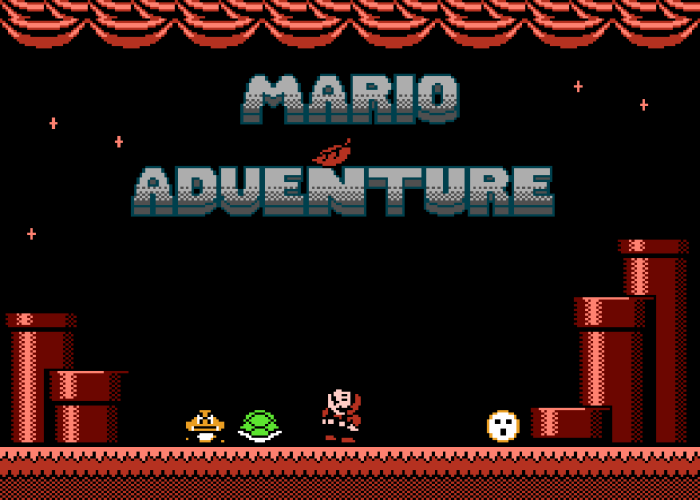 Mario Adventure Title Screen