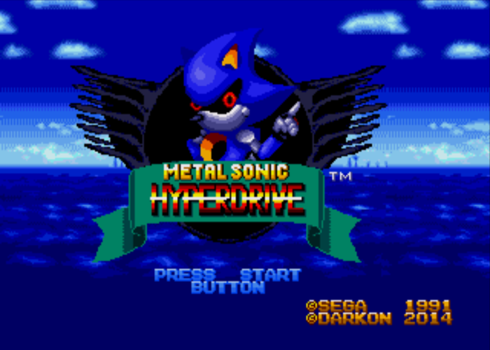 Metal Sonic Hyperdrive Title Screen