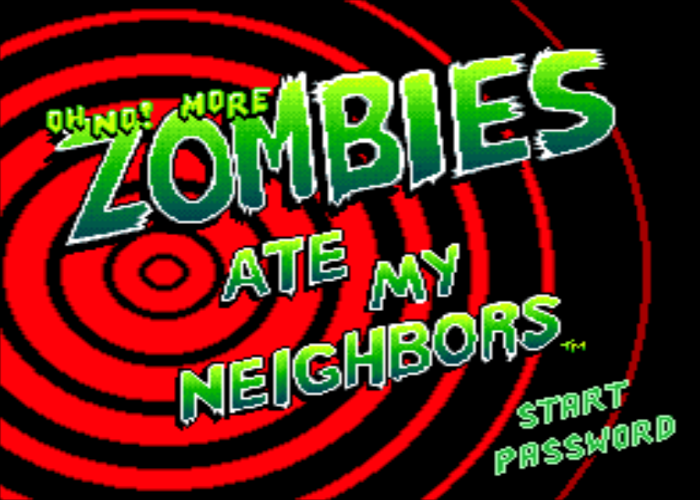 Oh No More Zombies Ate My Neighbors Title Screen