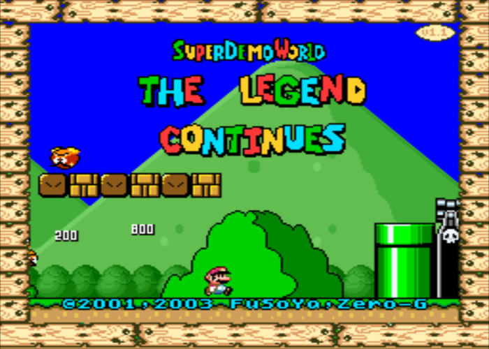 Super Demo World Title Screen