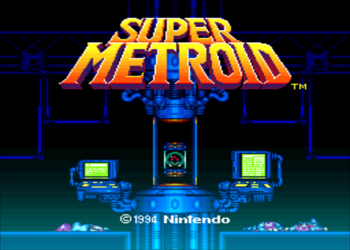 Super Metroid Redesign Title Screen