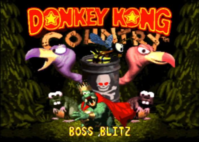 DKC Boss Blitz Title Screen