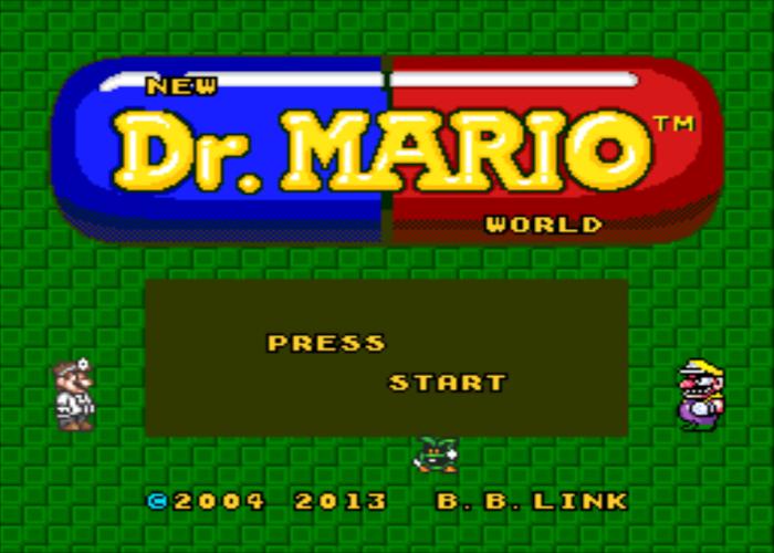 Dr Mario World Redrawn Title Screen